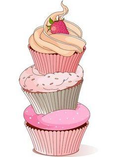 Buy Pyramid of Cupcakes by Dazdraperma on GraphicRiver. Pyramid of cupcakes elegance design. Cupcake Illustration, Birthday Cake Illustration, Cupcake Kunst, Cupcake Art, Cupcake Ideas, Cupcake Clipart, Cupcake Drawing, Cupcake Images, Food Drawing