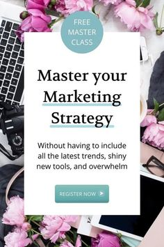 This contains: Free Marketing Masterclass: Get my simple 5-Step Framework to Grow your Service Business... WITHOUT having to include all the latest trends, shiny new tools, and overwhelm. So you� Marketing Budget, Small Business Marketing, Sales And Marketing, Marketing Plan, Strategy Business, Business Tips, Media Marketing, Online Business, Digital Marketing