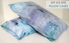 DIY Ice Dye Pillow Cases l How to Ice Dye l Ice Dye Tutorial #stylecurator