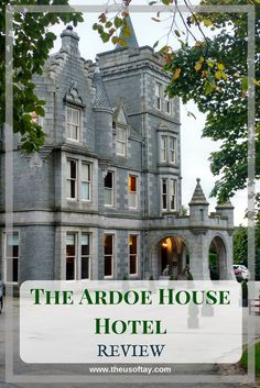 The Ardoe House Hotel is a beautiful, Victorian mansion that prides itself with original features as well as traditional, Scottish décor...