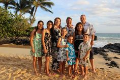 This couple included their children and grandchildren in their 25th Wedding Anniversary celebration with a Vow Renewal on Maui, with Barefoot Maui Weddings and Maui Vow Renewal.