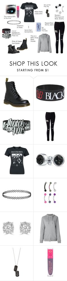 """""""Me. Literally Everyday."""" by grey-daray ❤ liked on Polyvore featuring Dr. Martens, Hot Topic, Miss Selfridge, Bling Jewelry, Effy Jewelry, T By Alexander Wang, Jeffree Star and Marc Jacobs"""