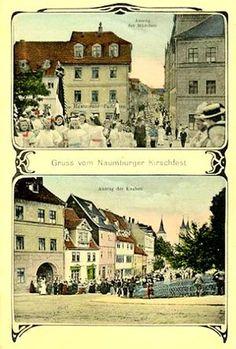 Gruss vom Naumburger Kirschfest, Auszug der Mädchen u. Knaben, 1927