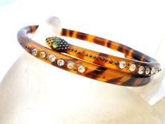 Victorian Serpent Snake Bangle Bracelet