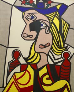 """Roy Lichtenstein (Pop art american) """"Woman with Flowered Hat"""" Roy Lichtenstein Pop Art, Art Pop, Expo Picasso, Pop Art Vintage, Modern Art, Contemporary Art, Industrial Paintings, Pop Art Colors, Selling Paintings"""