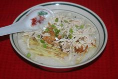 Guangdong chicken Congee-- 广东鸡絲粥----