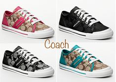 Coach Tennis Shoes :) black and silver (8)