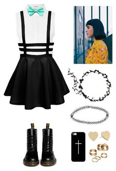 """""""Hanging Out With Melanie Martinez !!!!!!!!!!!!!!!"""" by mely-carrasco ❤ liked on Polyvore featuring moda, Glamorous, Dr. Martens, Apt. 9, Boohoo, Kate Spade y Casetify"""