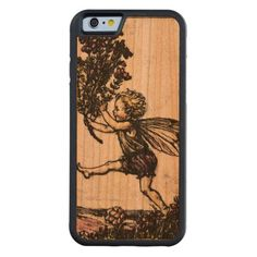 Vintage Cicely Mary Barker Fairy Pixe Whimsical Carved® Cherry iPhone 6 Bumper Case