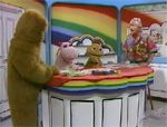 1972 - 1992 (UK) Rainbow was broadcast twice weekly at 12:10pm on Tuesdays and Fridays on ITV. The show was intended to develop language and number skills for pre-school children, and went on to win the Society of Film and Television Arts Award for Best Children's Programme in 1975. Rainbow was originally conceived as a British equivalent of popular American series Sesame Street. Each episode of Rainbow revolved around a particular activity or situation that would arise in the