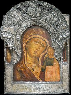 Christian Icon : Photo Religious Icons, Religious Art, History Of Romania, Russian Icons, Mary And Jesus, Byzantine Icons, Hail Mary, Gold Work, Orthodox Icons