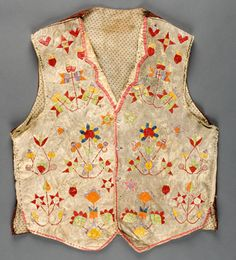 Sioux quilled | Sioux Quilled Hide Vest, - Cowan's Auctions