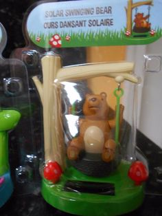 Solar Powered Bear on a Swing - NIP! FREE GIFT!! Solar Powered Toys, Coo Coo Clock, Interactive Toys, Bobble Head, Dancers, Free Gifts, Bear, Sun, Kids