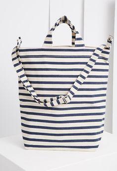 Baggu Sailor Stripe Duck Bag