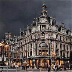 Antwerp, Belgium - Shop Armani Jeans - Op de Meir