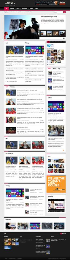 oNews, Premium Joomla Responsive Newspaper Template