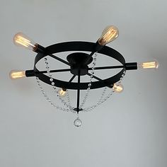 Pendant+Light+,++Modern/Contemporary+Traditional/Classic+Rustic/Lodge+Vintage+Country+Painting+Feature+for+Mini+Style+MetalStudy+–+NZD+$+188.85