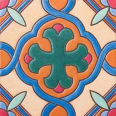 "#327 Margie's , 6X6"" Ceramic Tile"