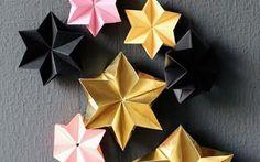 Bastel diese Sterne für Deinen Weihnachtsbaum, Weihnachststrauch oder als Geschenkanhänger selber. Hier geht's zur Anleitung.