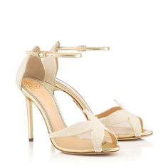 Sandrine's exquisite starfish feature brings a touch of natural beauty to your wedding day. In platinum metallic nappa leather, this sandal is perfect for a seaside ceremony. Denim Heels, Designer Sandals, Fashion Heels, Signature Design, Charlotte Olympia, Bridal Shoes, Shoe Sale, Designing Women, Clutch Bag