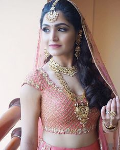 Baby pink lehenga and matching makeup Bridal Looks, Bridal Style, Bridal Jewelry, Silver Jewelry, Antique Jewelry, Fine Jewelry, Dainty Jewelry, Opal Jewelry, Leather Jewelry