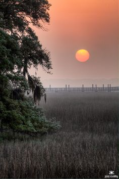 Sunrise over saltwater marsh on Hilton Head Island South Carolina April 10 2011 by Jim Crotty