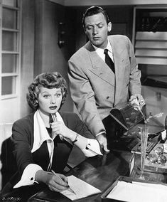 Lucille Ball and William Holden in Miss Grant Takes Richmond (1949).