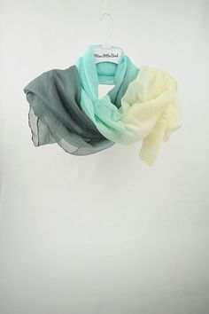Hey, I found this really awesome Etsy listing at https://www.etsy.com/listing/221777557/sea-green-scarf-yellow-scarf-green-scarf