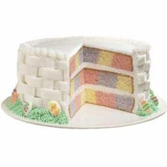 Another Easter Checkboard Cake, perhaps a little more difficult but so pretty.