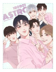 This is so precious! and really well done, everyone looks right K Pop, Member Astro, Astro Wallpaper, Astro Fandom Name, Cha Eun Woo Astro, Jamel, Kpop Drawings, Funny Kpop Memes, Bands