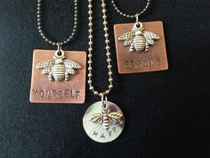 """Metal stamped jewelry just """"bee"""""""