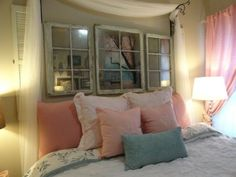love the picture frame and mirror windows