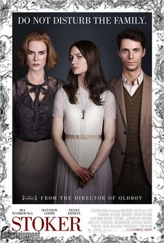 Official Poster for Park Chan-wook's Stoker - http://www.horror-movies.ca/2012/12/official-poster-for-park-chan-wooks-stoker/