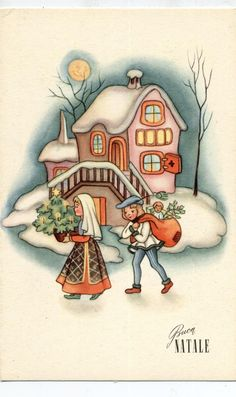 ART DECO Amazing Christmas Childrens Complete set of 6 postcards PC Circa 1940 A   eBay
