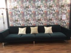 2 x 2 seater sofas, each seat is 70 cm, bracketed together, measures 320 cm wide x 102 cm deep. Covered in Warwick - Rouen 'Royal'. 2 Seater Sofa, Sofa Bed, Ski, Sofas, The Unit, Deep, Home Decor, Chair, Pull Out Bed