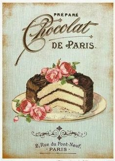 Discover thousands of images about Chocolate Cake Shabby Chic Handmade Fabric Block Decoupage Vintage, Éphémères Vintage, Images Vintage, Decoupage Paper, Vintage Labels, Vintage Pictures, Vintage Cards, Vintage Paper, Vintage Prints