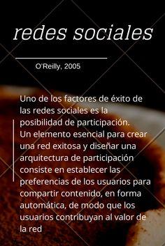 #citadeldia #citas  O'Reilly : Uno de los factores de éxito de las redes sociales es la posibilidad de participación #rrss #cita #quote #quotes #internet #redessociales #redes
