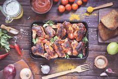 Poulet grillé en marinade aigre-douce