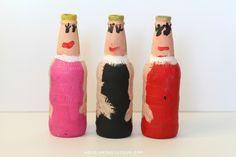 painted root beer bottles