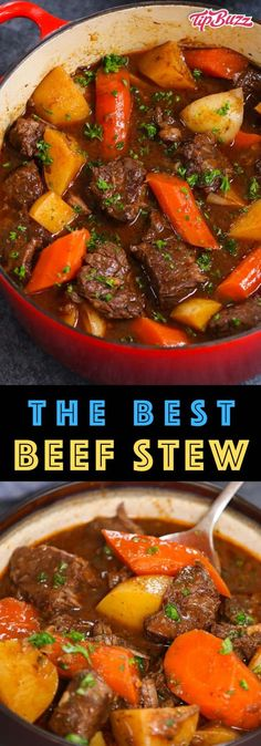 Mar 2020 - This simple Beef Stew has tender, melt-in-your-mouth beef with carrots, onions, and potatoes simmered in a rich sauce. It's a hearty and satisfying dinner that you can easily make ahead of time. Stew Meat Recipes, Cooking Recipes, Easy Recipes, Medifast Recipes, Amazing Recipes, Delicious Recipes, Oven Beef Stew, Hearty Beef Stew, Quick Easy Meals