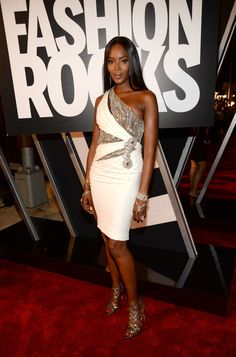 Naomi Campbell was stunning in #Versace this evening on the red carpet at #FashionRocks. #VersaceCelebrities