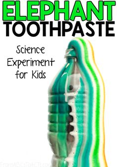 Elephant toothpaste is such a fun science experiment to try with your kids! This foamy reaction comes together in minutes with just 4 ingredients! Science Experiments For Preschoolers, Science Projects For Kids, Science Activities For Kids, Cool Science Experiments, Science Experiment For Kids, Summer Science, Stem Activities, Science Ideas, Science Education