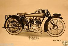 Vintage Motorcycle/Poster Illustration - Brough Superior Mark  I 1922-23