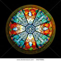 Catholic church stained-glass window by ChaosMaker, via Shutterstock