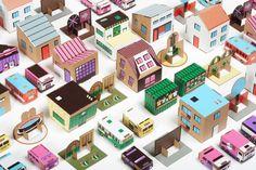 papierowe miasto // Paper City play set | FUTU.PL