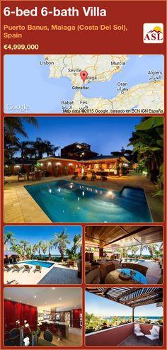 Villa for Sale in Puerto Banus, Malaga (Costa Del Sol), Spain with 6 bedrooms, 6 bathrooms - A Spanish Life Murcia, Malaga, Sauna Steam Room, Puerto Banus, Single Bedroom, Beach Villa, Open Fires, Bedroom With Ensuite, Air Conditioning System