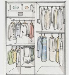 Set in order the wardrobe and the space will be double