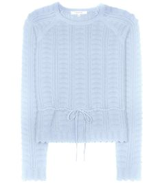 Blue cotton-blend sweater