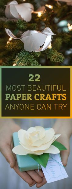 Paper crafts are probably the easiest type of DIY crafts, yet its still a lot of fun. It doesnt require a lot of resources nor high skills, most of the time you only need some papers, scissors, and glue. Enjoy trying these easy and beautiful paper crafts. Easy Diy Crafts, Creative Crafts, Fall Crafts, Crafts To Sell, Christmas Crafts, Diy Paper Crafts, Handmade Crafts, Crafts For Teens, Hobbies And Crafts