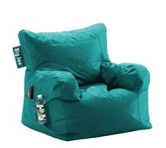 Wow, have bean bag chairs changed! $29...seems like a steal. Perfect for my dorm room.